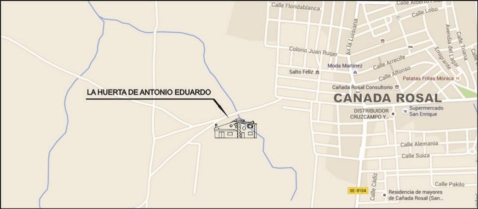 Ubicación La Huerta de Antonio Eduardo